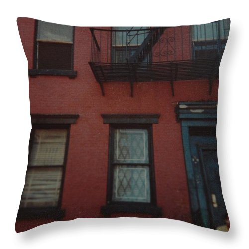 Lower East Side Throw Pillow featuring the photograph My Pops First Home In The United States by Rob Hans