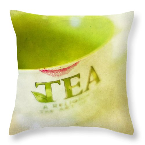 Tea Throw Pillow featuring the photograph My Second Favorite Beverage by Rebecca Cozart