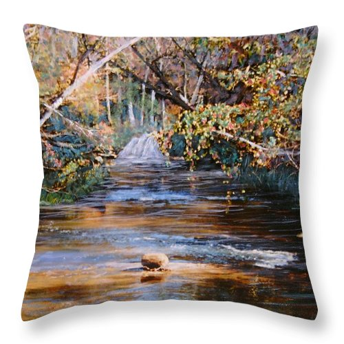 Peace Project Throw Pillow featuring the painting My Secret Place by Ben Kiger