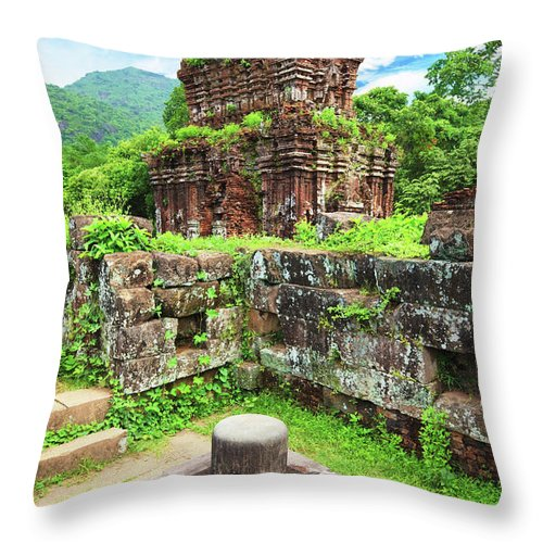 Yoni Throw Pillow featuring the photograph My Son Holy Land by MotHaiBaPhoto Prints
