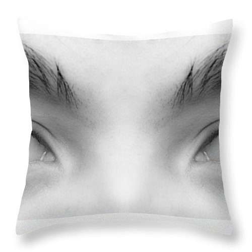 Eyes Throw Pillow featuring the photograph My Son's Eyes by James BO Insogna