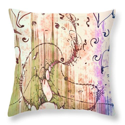 My Valentine Throw Pillow featuring the digital art My Valentine by Linda Sannuti