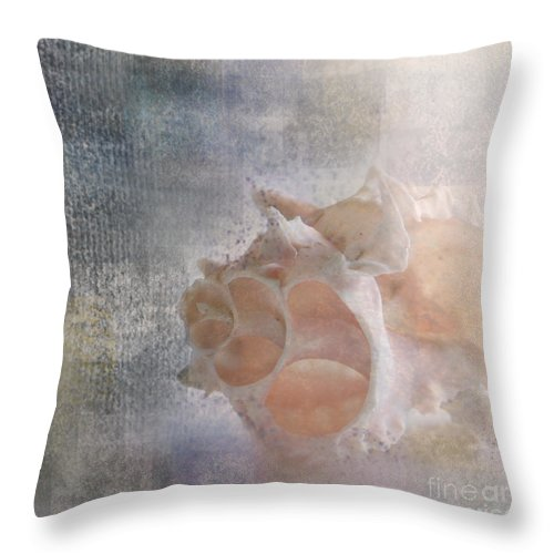 Sea Shell Throw Pillow featuring the photograph Mysterious by Betty LaRue