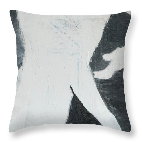 Man Throw Pillow featuring the painting Mystery Man by Craig Newland