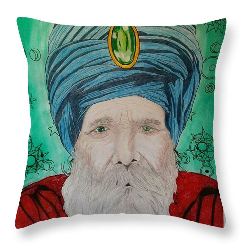 Throw Pillow featuring the mixed media Mystery Of The Magi by Rafael Colon