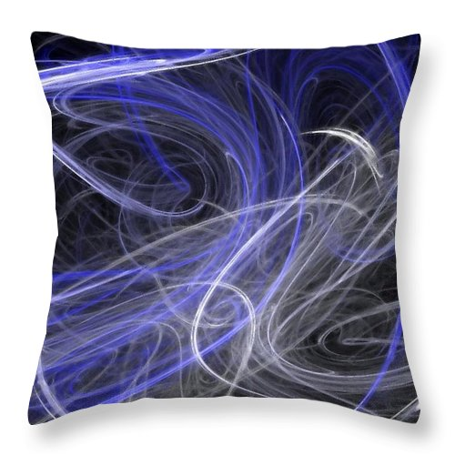 Mystic Throw Pillow featuring the digital art Mystic Dance by Rhonda Barrett