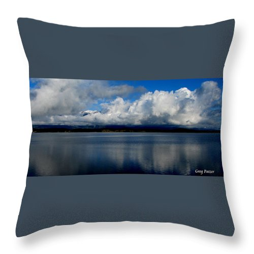 Patzer Throw Pillow featuring the photograph Mystic by Greg Patzer
