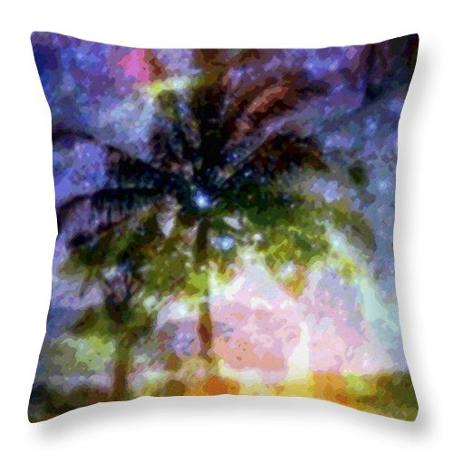 Tropical Interior Design Throw Pillow featuring the photograph Mystic Palm by Kenneth Grzesik