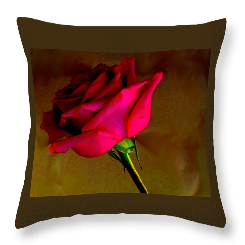 Rose Throw Pillow featuring the photograph Mystical Rose by Ian MacDonald