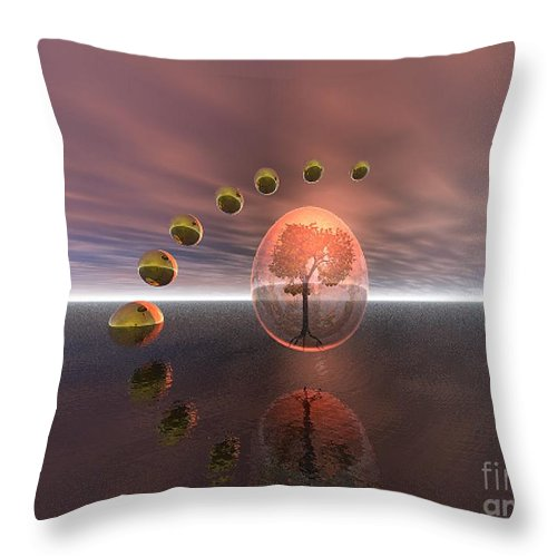 Mystical Throw Pillow featuring the digital art Mystical Surrealism by Oscar Basurto Carbonell