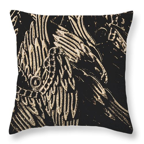 Antique Throw Pillow featuring the photograph Mythical Angels From History Past by Jorgo Photography - Wall Art Gallery
