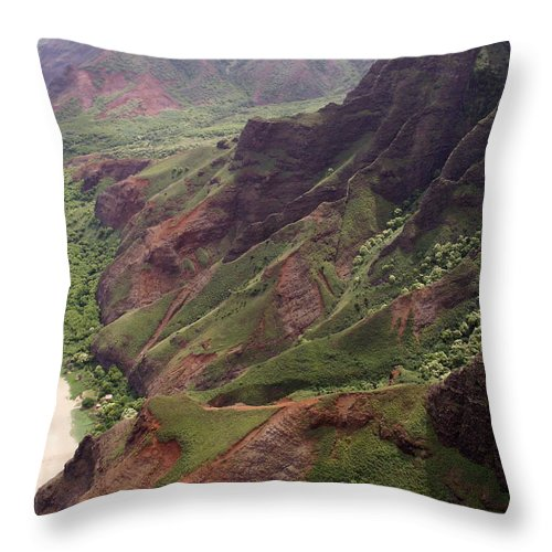 Na Pali Throw Pillow featuring the photograph Na Pali Coast by Amy Fose