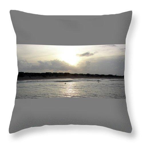 Nags Head Throw Pillow featuring the photograph Nags Head Nc Surf by Brett Winn