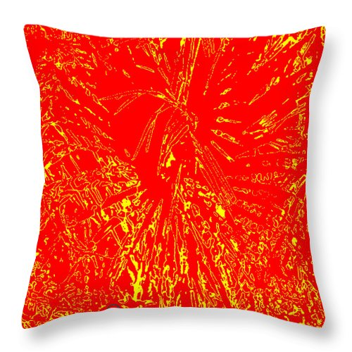 Square Throw Pillow featuring the digital art Nagual Flight by Eikoni Images