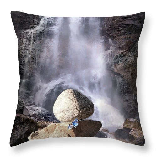 Waterfall Throw Pillow featuring the photograph Namaste by Ed Hall