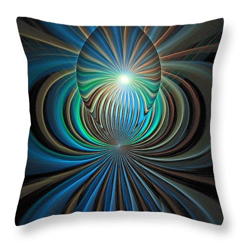 Digital Art Throw Pillow featuring the digital art Namaste by Amanda Moore