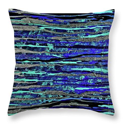 Hawaiian Ocean Throw Pillow featuring the painting Nani-kai by Toni Somes