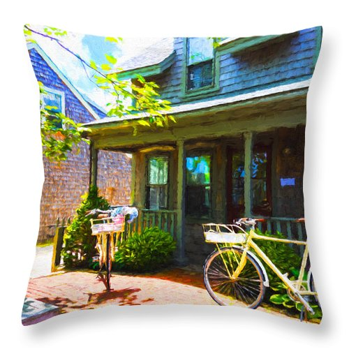Nantucket Throw Pillow featuring the photograph Nantucket - Architecture Series 10y by Carlos Diaz