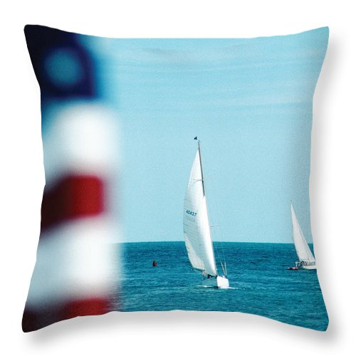 America Throw Pillow featuring the photograph Nantucket Sailing by Steve Somerville