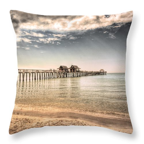 Naples Throw Pillow featuring the photograph Naples Pier by Margie Hurwich