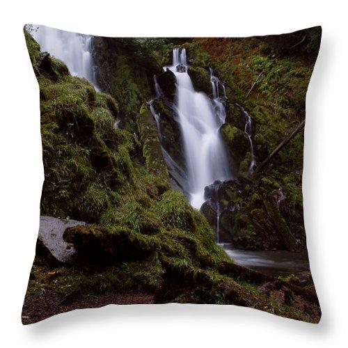 Waterfall Throw Pillow featuring the photograph National Creek Falls 04 by Peter Piatt