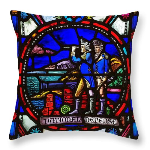 Stained Throw Pillow featuring the photograph National Defense by Scott Wyatt