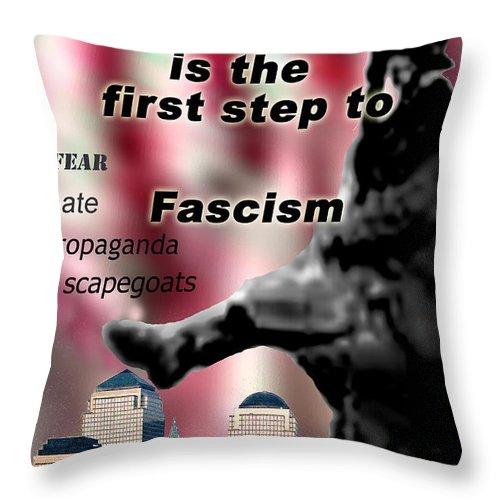 Politics Throw Pillow featuring the digital art Nationalism by Steve Karol