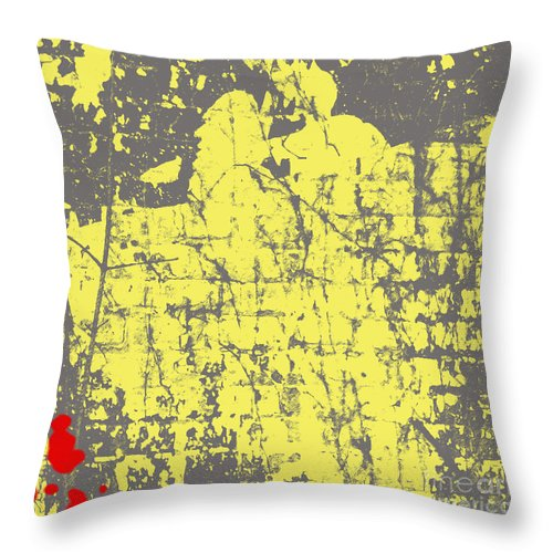 Abstract Throw Pillow featuring the photograph Native American- Abstract by Gary Everson