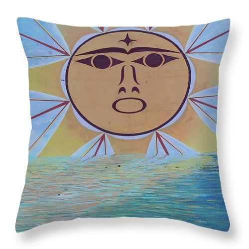 Sun Throw Pillow featuring the photograph Native Sun by Tom Cochran