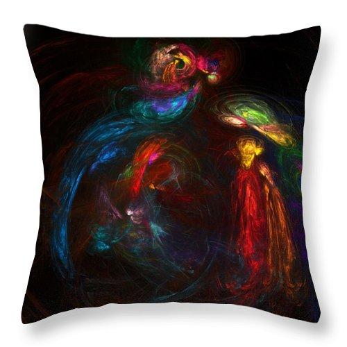 Fine Art Throw Pillow featuring the digital art Nativity by David Lane