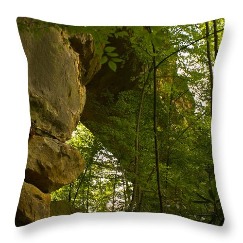 Natural Arch Throw Pillow featuring the photograph Natural Arch by Douglas Barnett