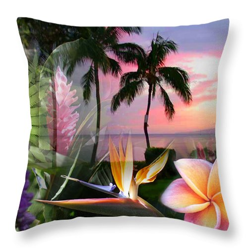 Bird Of Paradise Throw Pillow featuring the photograph Natural Beauty by Angie Hamlin