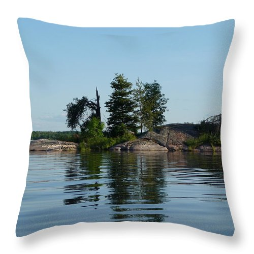 Lake Throw Pillow featuring the photograph Natural Breakwater by Ruth Kamenev