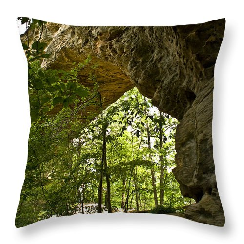Natural Throw Pillow featuring the photograph Natural Bridge Arch by Douglas Barnett