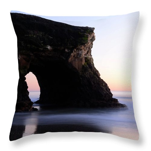 California Throw Pillow featuring the photograph Natural Bridges Detail by Bob Christopher