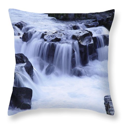 Waterfall Throw Pillow featuring the photograph Natural Bridges Falls 01 by Peter Piatt