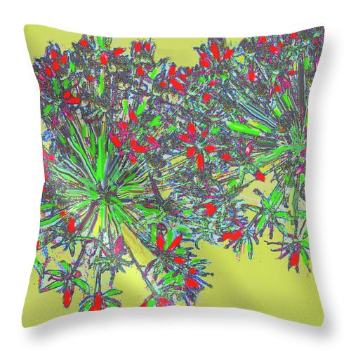 Abstract Throw Pillow featuring the digital art Natural Spiral by Ian MacDonald