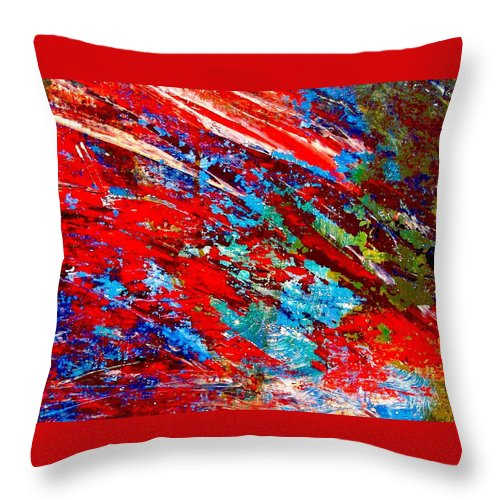 Abstract Throw Pillow featuring the painting Nature Harmony by Natalie Holland