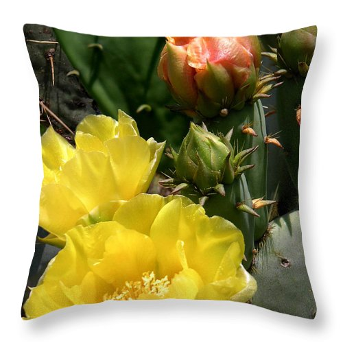 Nature Throw Pillow featuring the photograph Nature In The Wild - Two Blooms And Counting by Lucyna A M Green
