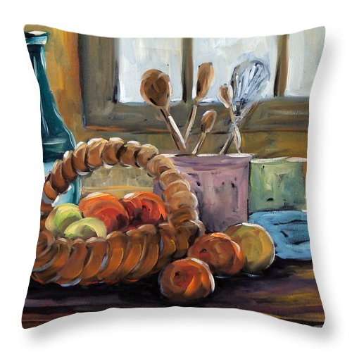 Art Throw Pillow featuring the painting Nature Morte by Richard T Pranke