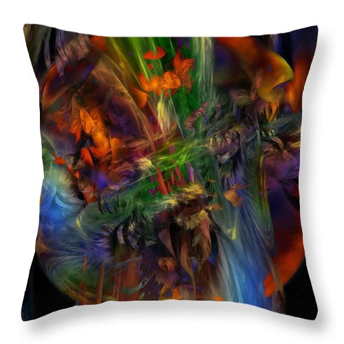 Nature Throw Pillow featuring the digital art Nature Spilling Over by Julie Grace