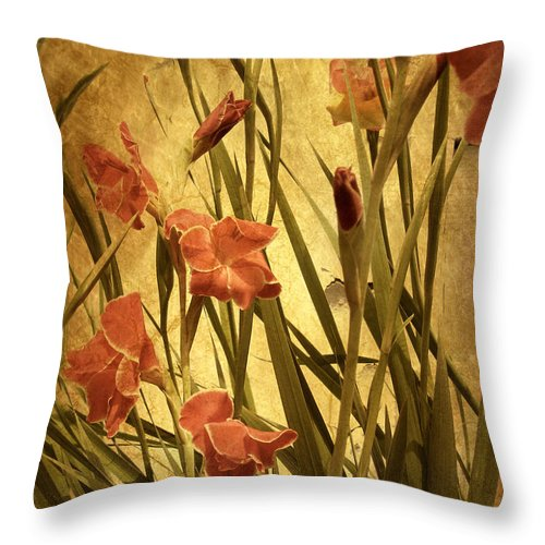 Flowers Throw Pillow featuring the photograph Nature's Chaos In Spring by Jessica Jenney