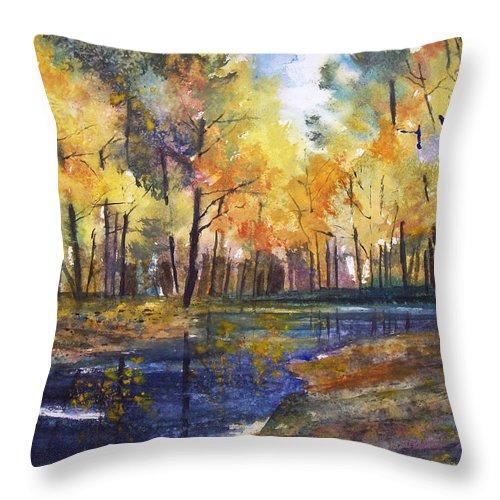 Ryan Radke Throw Pillow featuring the painting Nature's Glory by Ryan Radke