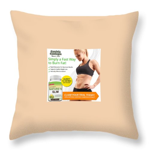 Throw Pillow featuring the sculpture Natures Slim Garcinia by Matt Henr