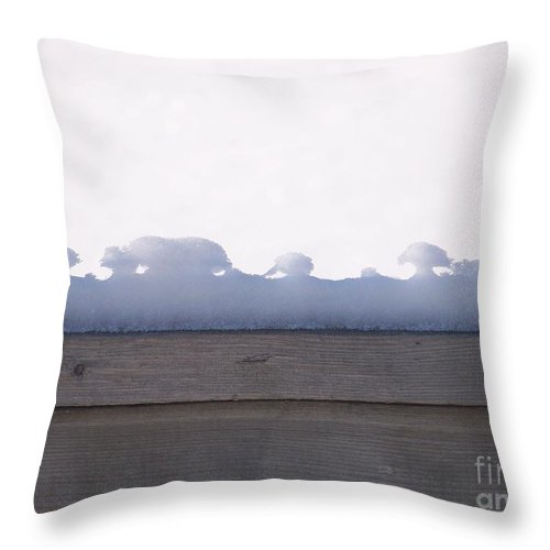 Snow Throw Pillow featuring the photograph Nature's Tiny Snowscape by Jackie Mueller-Jones