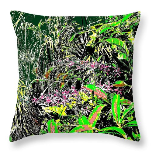 Square Throw Pillow featuring the digital art Nature's Way by Eikoni Images