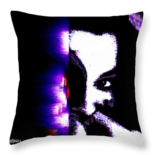 Naughty Throw Pillow featuring the digital art Naughty by Seth Weaver