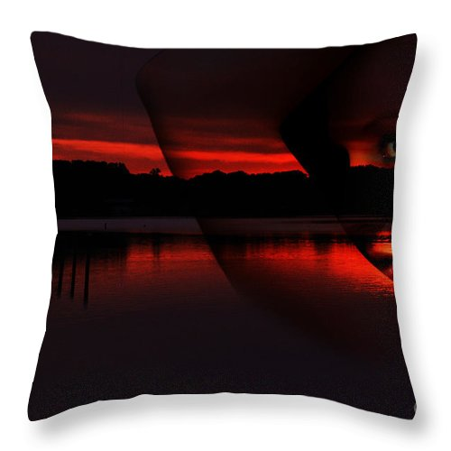 Clay Throw Pillow featuring the photograph Nautical Goddess by Clayton Bruster