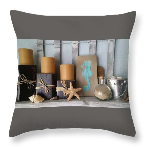 Beach Throw Pillow featuring the photograph Nautical Vignette by Chris Lewis
