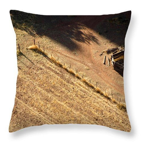 Native American Throw Pillow featuring the photograph Navajo Hogan by Joe Kozlowski